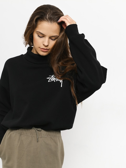 Bluza Stussy Weller Turtleneck Fleece Crew Wmn (black)
