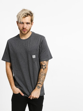 T-shirt Element Basic Pocket Label (charcoal heather)