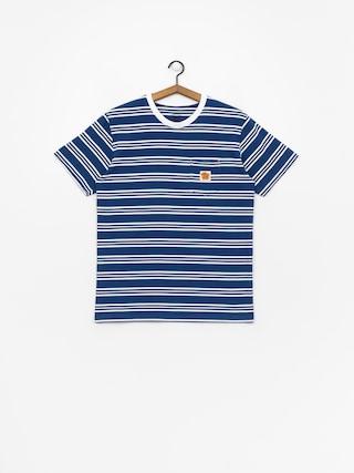 T-shirt Turbokolor Stripes Pocket Heinz (blue/white)
