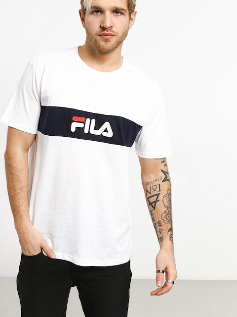 T-shirt Fila Nolan (bright white/black iris)