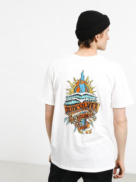 T-shirt Quiksilver Tattered (white)