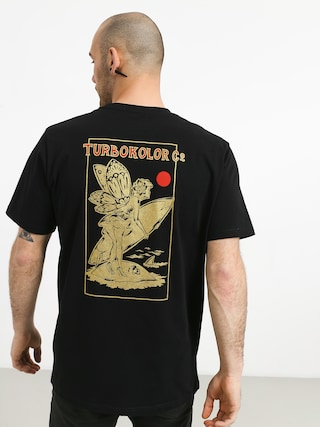 T-shirt Turbokolor Lets Surf (black)