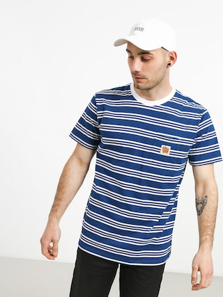 T-shirt Turbokolor Stripes Pocket Heinz (blue/white)