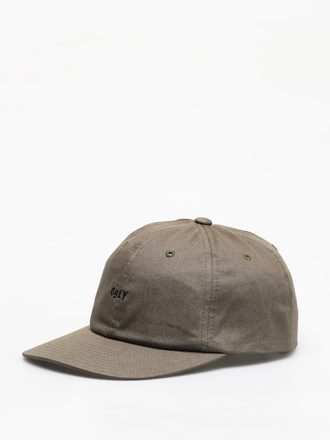 Czapka z daszkiem OBEY Cutty 6 Panel Snapback ZD (army)