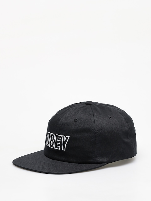 Czapka z daszkiem OBEY Speechless 6 Panel Snapback ZD (black)