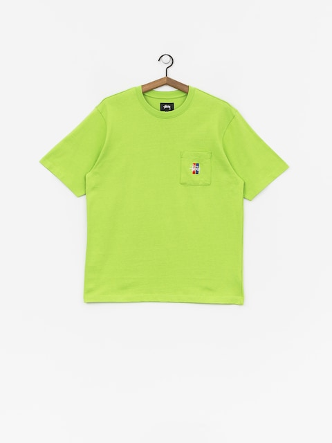 T-shirt Stussy 2 Bar Stock Crew (green)