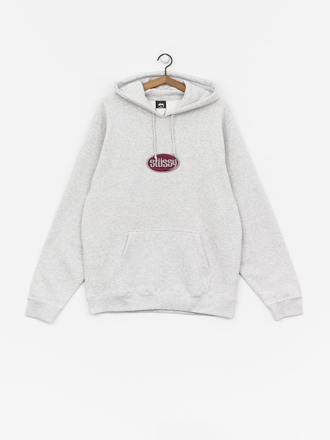 Bluza z kapturem Stussy Oval App. HD (ash heather)