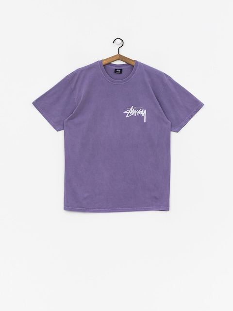 T-shirt Stussy Stock Pig. Dyed (purple)