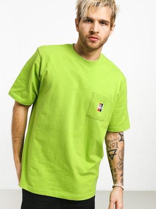 T-shirt Stussy 2 Bar Stock Crew (green)