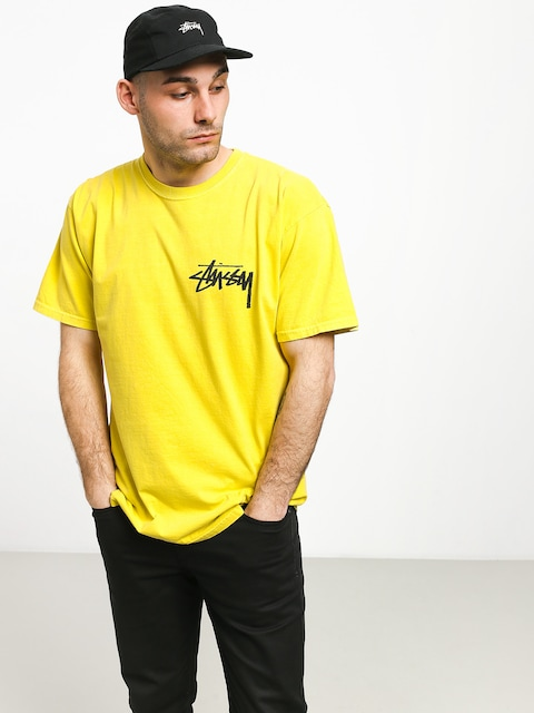 T-shirt Stussy Stock Pig. Dyed (lime)
