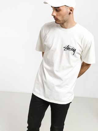 T-shirt Stussy Stock Pig. Dyed (natural)