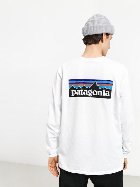 Longsleeve Patagonia Logo Responsibili (white)