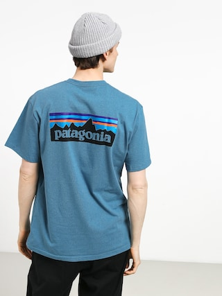 T-shirt Patagonia Logo Responsibili (mako blue)