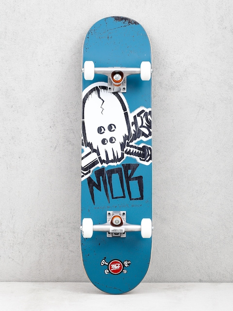 Deskorolka Mob Skateboards Skull Stencil (teal/white)