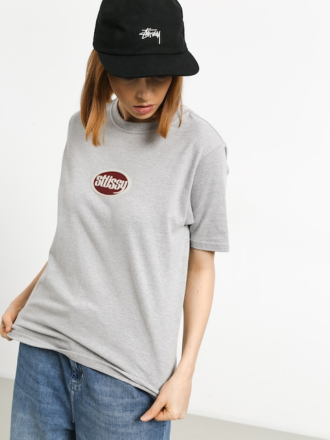 T-shirt Stussy Oval Wmn (grey heather)