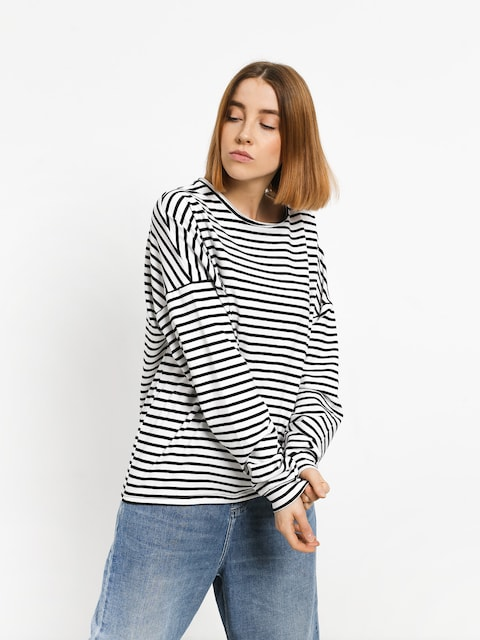 Longsleeve The Hive Stripes Wmn (white/black)