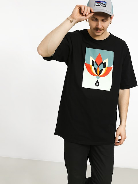T-shirt OBEY Obey Geometric Flower (black)