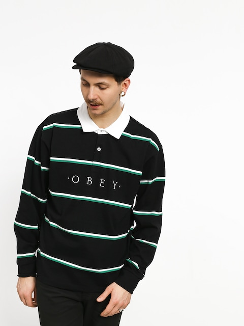 Polo OBEY Washer Classic Ls (black/multi)