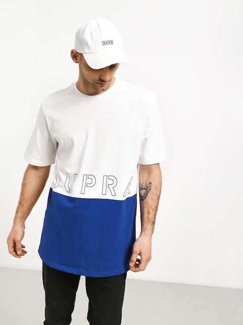 T-shirt Supra Color Block Crew II (white/blue/red)
