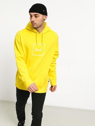 Bluza z kapturem HUF Box Logo HD (aurora yellow)