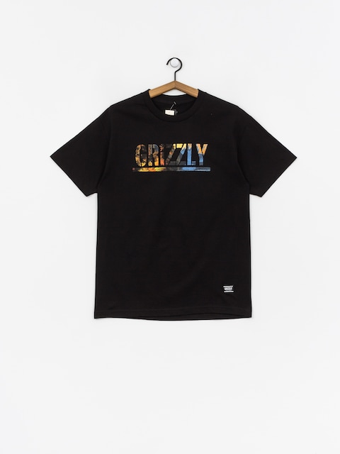 T-shirt Grizzly Griptape Stamped Scenic (black)