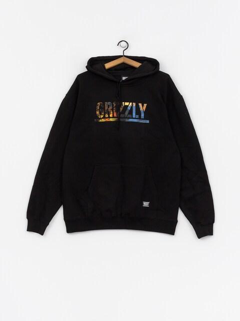 Bluza z kapturem Grizzly Griptape Stamped Scenic HD (black)