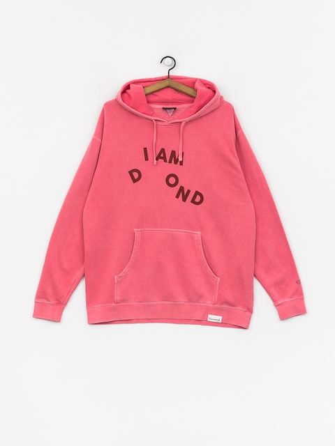 Bluza z kapturem Diamond Supply Co. I Am HD (pink)