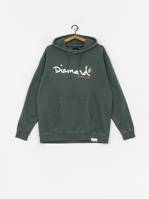 Bluza z kapturem Diamond Supply Co. Paradise Og Script HD (alpine green)
