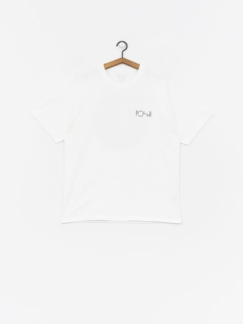 T-shirt Polar Skate Fill Logohirt  (white/black)