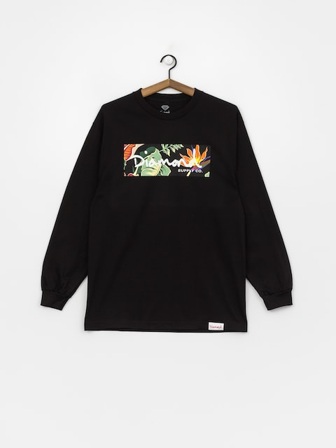 Longsleeve Diamond Supply Co. Paradise Box Logo (black)