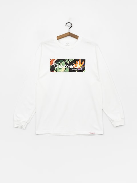 Longsleeve Diamond Supply Co. Paradise Box Logo (white)