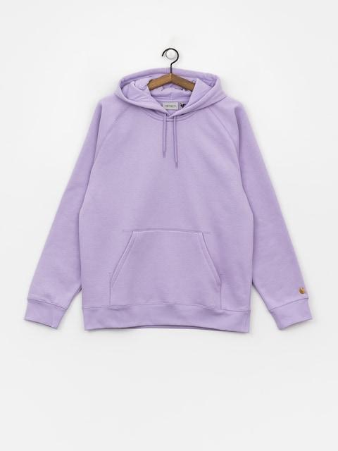 Bluza z kapturem Carhartt WIP Chase HD (soft lavender/gold)