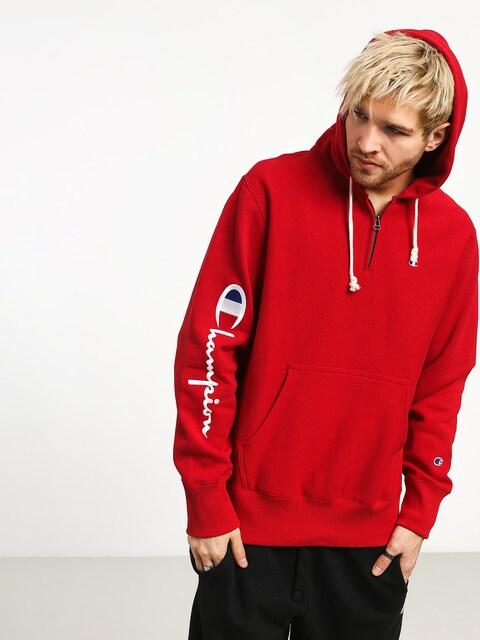 Bluza z kapturem Champion Reverse Weave Hooded Half Zip Sweatshirt ZHD (htr)