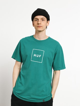 T-shirt HUF Essentials Box Logo (deep jungle)