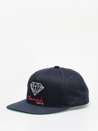 Czapka z daszkiem Diamond Supply Co. Og Sign Snapback ZD (navy)