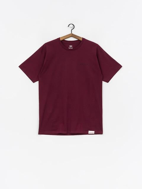 T-shirt Diamond Supply Co. Marquise (burgundy)