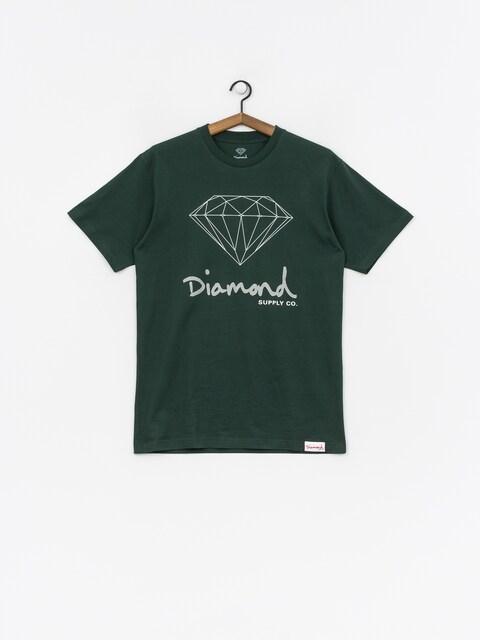 T-shirt Diamond Supply Co. Og Sign (hunter green)