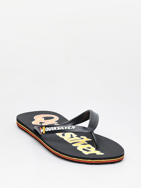 Japonki Quiksilver Molokai Wordmark Fineline (black/black/yellow)