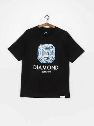 T-shirt Diamond Supply Co. Asscher Cut (black)