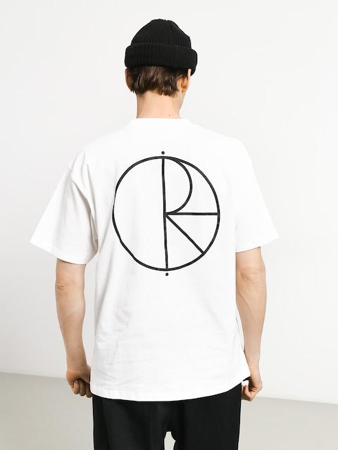 T-shirt Polar Skate Stroke Logo (white/black)