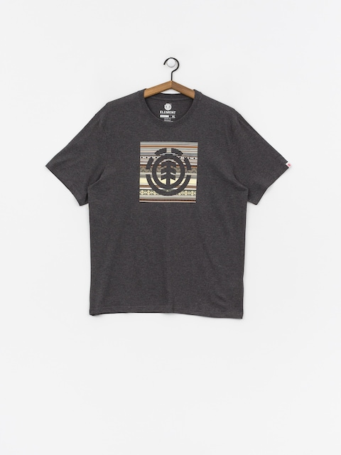 T-shirt Element Indiana Logo Block (charcoal heather)