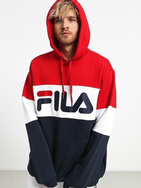 Bluza z kapturem Fila Night HD (black iris/high risk red/bright white)