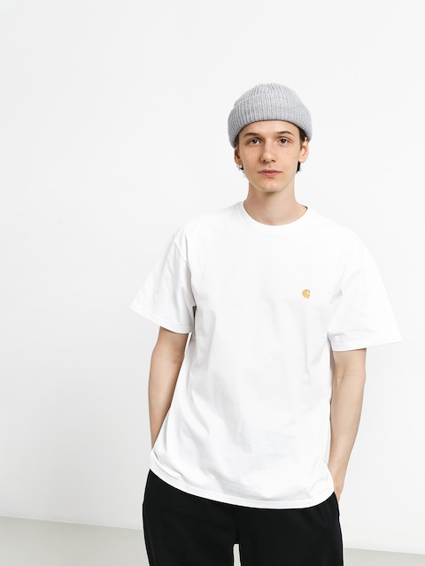 T-shirt Carhartt Chase (white/gold)