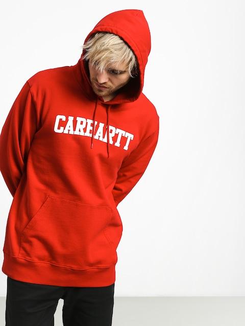 Bluza z kapturem Carhartt WIP College HD (cardinal/white)