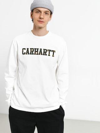 Longsleeve Carhartt WIP College (white/camo laurel)