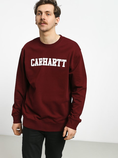 Bluza Carhartt WIP College (cranberry/white)