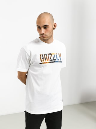 T-shirt Grizzly Griptape Stamped Scenic (white)