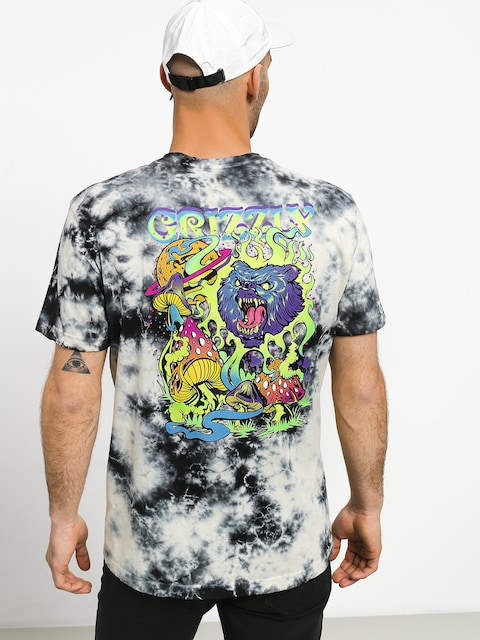T-shirt Grizzly Griptape Black Light Bear Pocket (white)