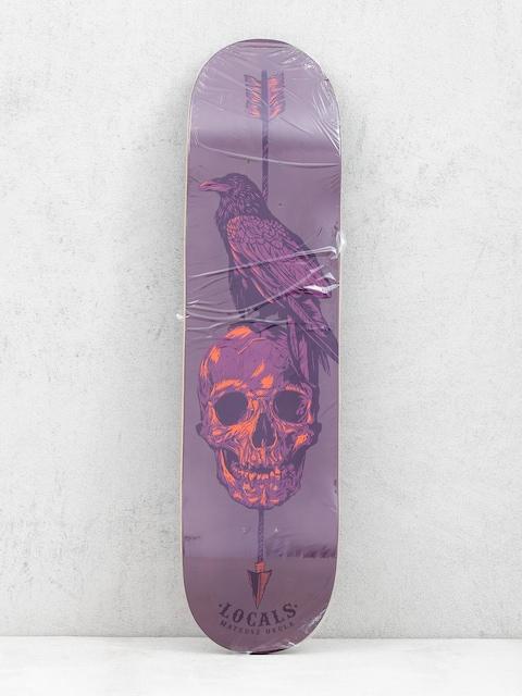 Deck Locals Skateboards Skull Mask 1 Promodel Mateusz Okuła (plum)