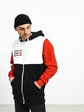 Bluza z kapturem El Polako Cut ZHD (black/white/red)